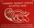 You can use your Farmer's Market Coupons at any Farmer's Market in Illinois if they have this sign